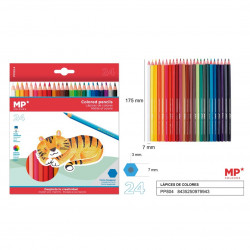 Lápices de colores 24 unidades para niños Plascolor