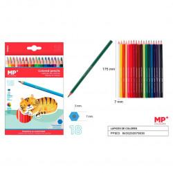 18 Lápices de Colores para Niños