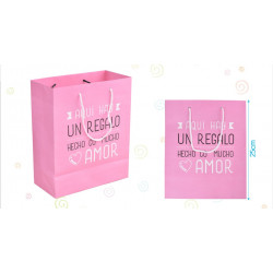 Bolsa Papel Rosa Pequeña
