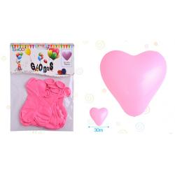 Globo  Forma de Corazón Rosa