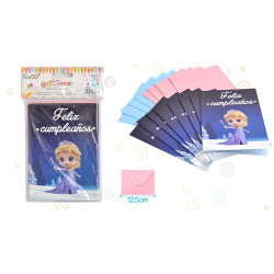 Invitaciones Princesa Hielo