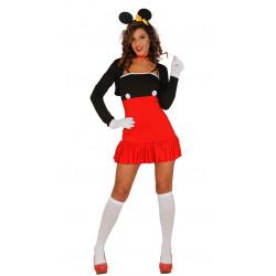Disfraz de ratona roja adulta. Disfraz de Minnie Mouse para adulto