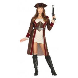 Disfraz de pirata lujo adulta. Disfraz de capitana pirata