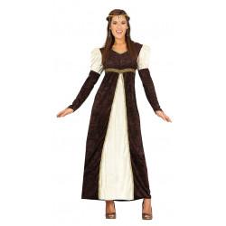 Disfraz de dama del renacimiento. Vestido de princesa adulta