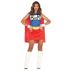 Disfraz de Beerwoman adulta. Traje de superhéroe cerveza