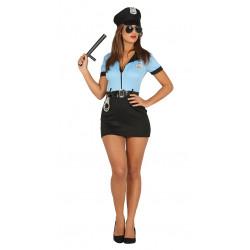 Disfraz de policía adulta. Vestido sexy de policía para despedida de soltero