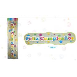 Cartel 'Feliz Cumpleaños'