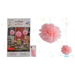 """Flor 8"""" Rosa Pastel"""