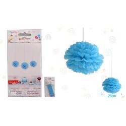"""Flor 10"""" Azul Celeste"""
