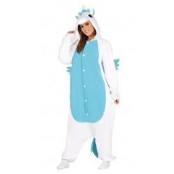 Disfraz de unicornio azul adulta. Pijama de unicornio para mujer