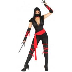 Disfraz de black ninja adulta. Disfraz de mujer ninja negra