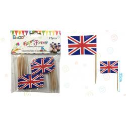 Palillos Banderines Inglaterra
