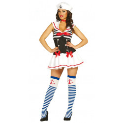 Disfraz de marinerita adulta. Vestido de marinera sexy para adulta