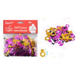 Confetti Metalico Anillos