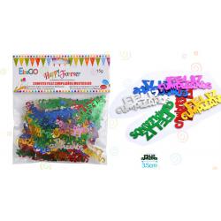 Confetti 'Feliz Cumpleaños' Metálico
