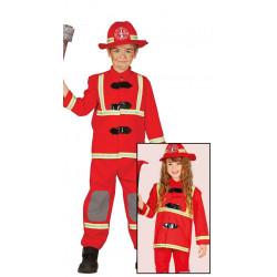Disfraz de bombero infantil. Traje de bombero para niño y niña