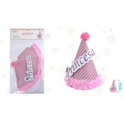 Gorro Rosa de Cumpleaños de Princesa