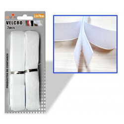 Velcro Adhesivo 2.0x70cms Blanco