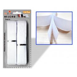 Velcro Adhesivo 2.5x70cms Blanco