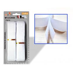 Velcro para Costura 2.5x80cms Blanco
