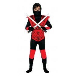 Disfraz de red ninja infantil. Disfraz de ninja dragón rojo para niño