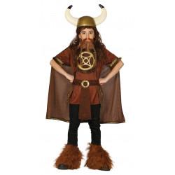 Disfraz de Vikingo infantil. Disfraz de guerrero nórdico para niño
