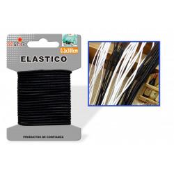 Elástico 0.3x300cm Negro