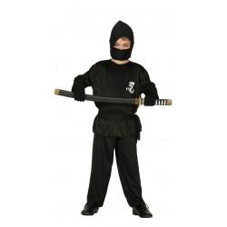 Disfraz de ninja infantil. Disfraz de ninja negro para niño