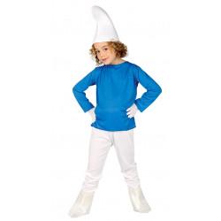 Disfraz de enanito azul infantil. Disfraz de Pitufo para niño