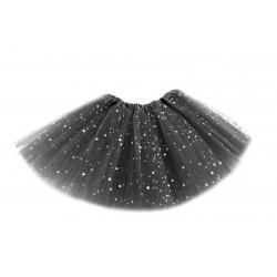 Tutú con Estrellas Infantil, Negro - Falda de Tul 30cm