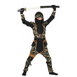 disfraz de ninja comando infantil. Traje de militar para niño