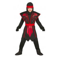 Disfraz de Shadow Ninja Infantil. Disfraz de ninja negro para niño