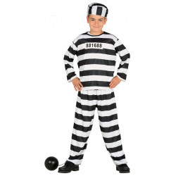 Disfraz de prisionero infantil. Disfraz de presidiario para niño.