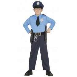 Disfraz de Policía infantil . Traje de oficial para niño