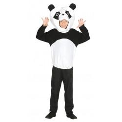 Disfraz de oso panda infantil, traje de pijama panda para niño
