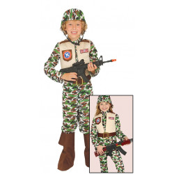 Disfraz de fuerzas especiales infantil. Disfraz militar de élite para niño