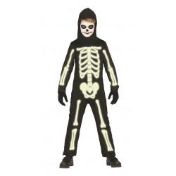 Disfraz Esqueleto Brilla en la Oscuridad Infantil
