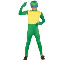 Disfraz de tortuga Ninja verde infantil . Traje  para niño.
