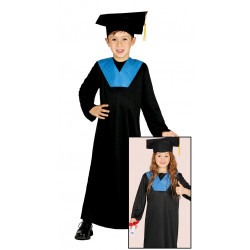 Disfraz de estudiante infantil, traje de graduación para niño