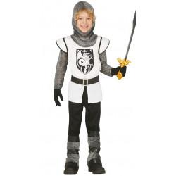 Caballero medieval infantil . Traje de guerrero para niño.