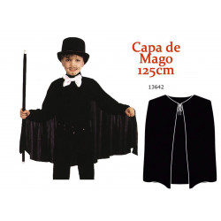 Capa Negra de Mago 125 cm