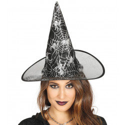 Sombrero bruja negro Telarañas