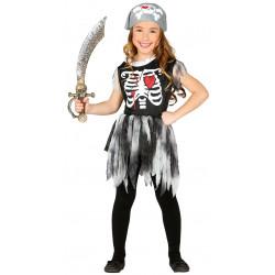 Disfraz Pirata esqueleto Infantil