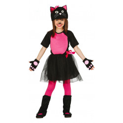 Disfraz de gato negro infantil - Conjunto de gatita para niña
