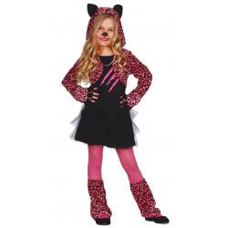 Disfraz Pink paws leopard Infantil