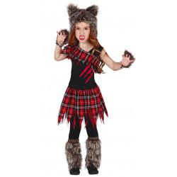 Disfraz scotish wolf girl Infantil