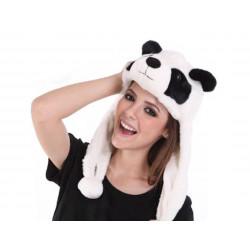 Gorro De Peluche Oso Panda