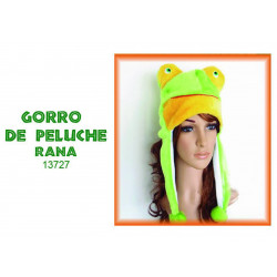 Gorro De Peluche Rana