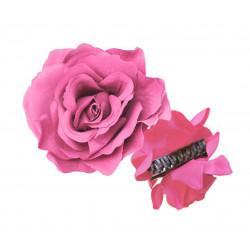 Rosa Flamenca con pinza, 12 cm