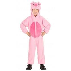 Disfraz de Cerdito infantil. traje de cerdo para niño.
